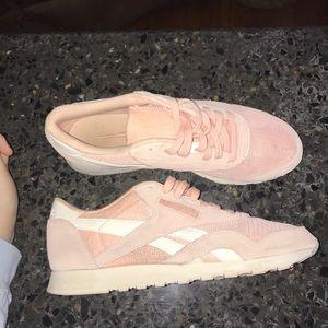 Pink Reebok Classic Nylon sneaker